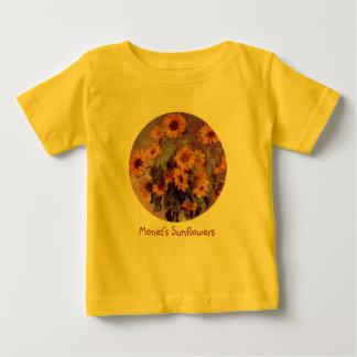 Sunflowers by Claude Monet Baby T-Shirt