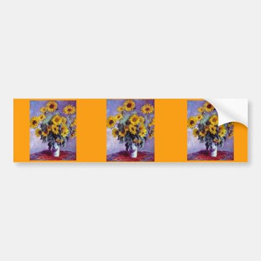 Sunflowers by Claude Monet Bumper Stickers