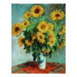 Sunflowers by Claude Monet Poster