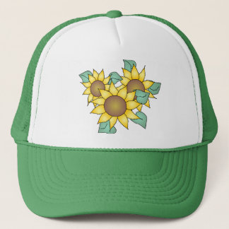 SUNFLOWERS by SHARON SHARPE Trucker Hat