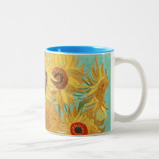Sunflowers by Van Gogh Two-Tone Mug