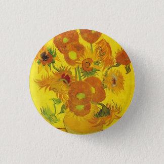 Sunflowers by Vincent van Gogh 3 Cm Round Badge