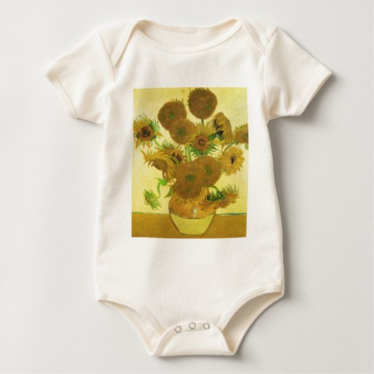 Sunflowers By Vincent Van Gogh Baby Bodysuit