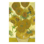 Sunflowers By Vincent Van Gogh Customized Stationery