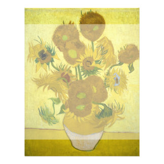Sunflowers by Vincent Van Gogh Personalized Flyer