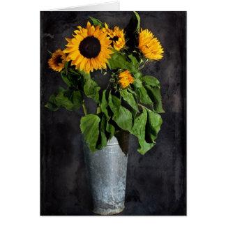 Sunflowers Card all purpose.
