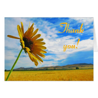 Sunflowers Card; Thank You Card; Thanks Card