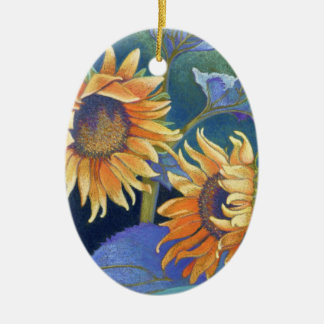 sunflowers christmas ornament