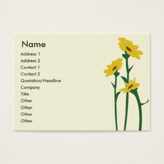 Sunflowers - Chubby Business Card