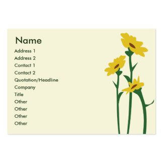 Sunflowers - Chubby Business Card Template