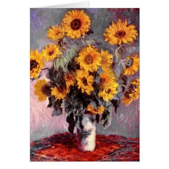 Sunflowers, Claude Monet Card