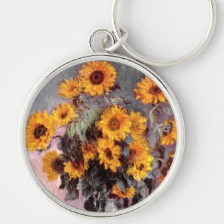 Sunflowers, Claude Monet Key Ring