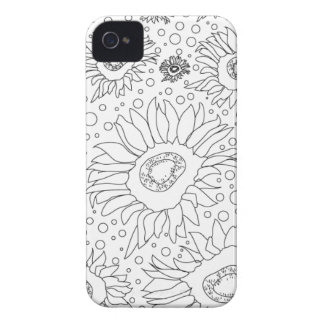 Sunflowers Coloring Page iPhone 4 Case-Mate Case