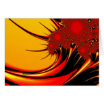 Sunflowers Colourful Abstract Fractal Art Note Card