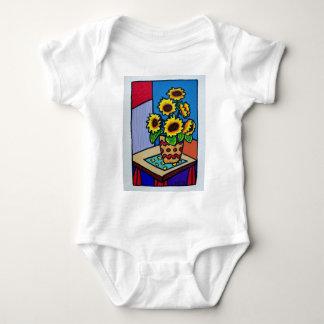 Sunflowers D 12 by Piliero Baby Bodysuit