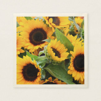 Sunflowers Disposable Napkin