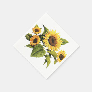 Sunflowers Disposable Serviettes