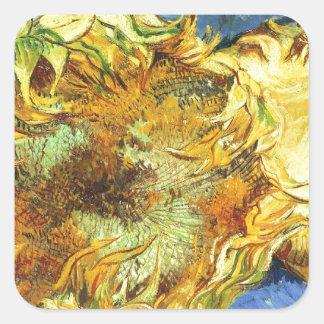 Sunflowers F. 375 ~ Van Gogh Square Sticker