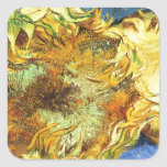 Sunflowers F. 375 ~ Van Gogh Square Stickers