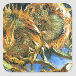 Sunflowers F. 376 ~ Van Gogh Square Stickers