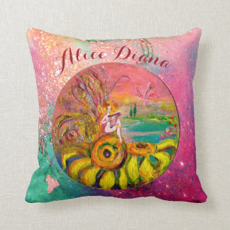 SUNFLOWERS FAIRY PINK FLORAL Girl Baby Status Cushion