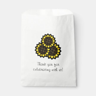Sunflowers Favour Bags