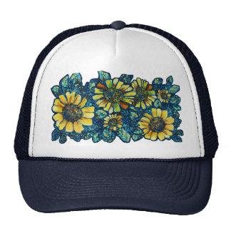 Sunflowers Floral Art Trucker Hat +colors