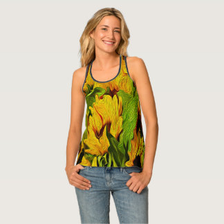 Sunflowers Floral Design Tank Top