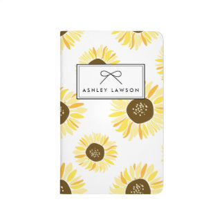 Sunflowers Floral Pattern Personalized Journal