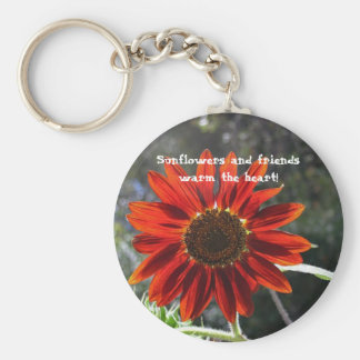 Sunflowers & Friends! Basic Round Button Key Ring