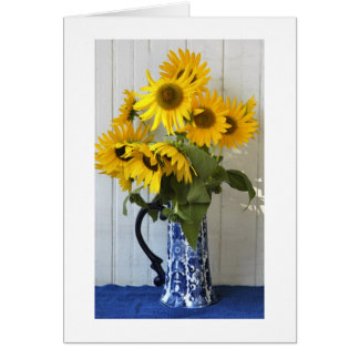 Sunflowers from my Garden Card