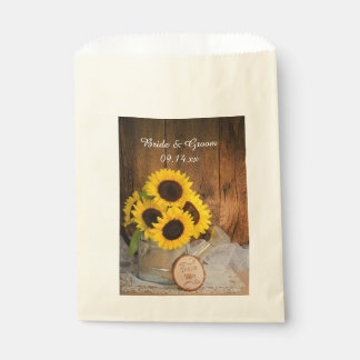 Sunflowers Garden Watering Can Wedding Thank You Favour Bags