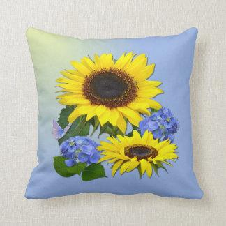 Sunflowers & Hydrangeas  ~ Pillow/Cushion Cushion