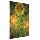 Sunflowers Impression, abstract fractal