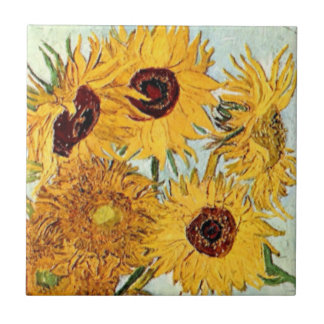 Sunflowers Impression Tile