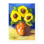Sunflowers in a Clay Pot Post Card