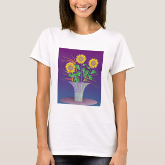 Sunflowers in a Glass Vase t-shirt