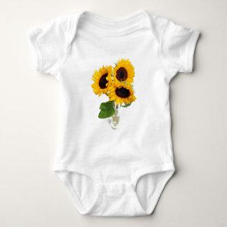 Sunflowers in a Vase Baby Bodysuit