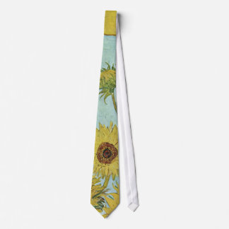 Sunflowers in a Vase (F456) Van Gogh Fine Art Tie