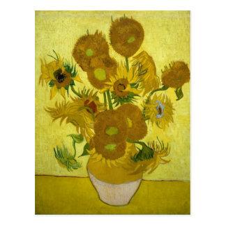Sunflowers in a Vase (F458) Van Gogh Fine Art Postcard