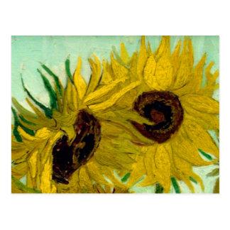 Sunflowers in a Vase Van Gogh Fine Art Postcard