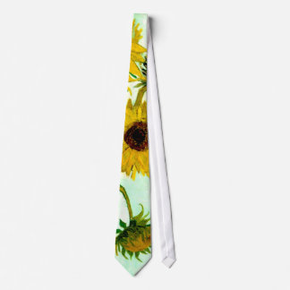 Sunflowers in a Vase Van Gogh Fine Art Tie