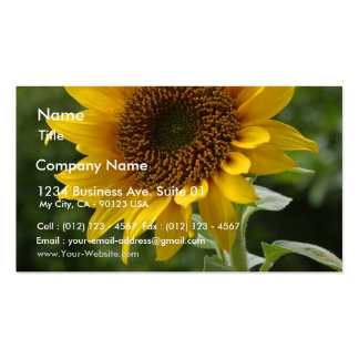 Sunflowers In Field Business Card Template