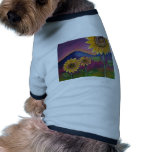 Sunflowers in front of Mountains Doggie Tee