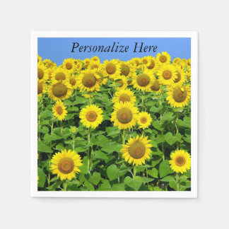 Sunflowers In The Field Paper Serviettes