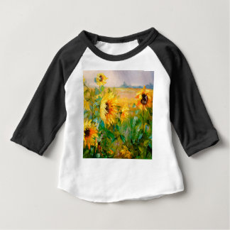 Sunflowers in the wind baby T-Shirt