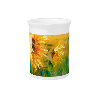 Sunflowers in the wind pitcher