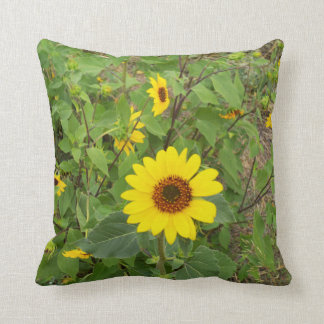 Sunflowers In The Wind, Throw Cushion. Cushion