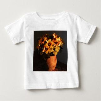 Sunflowers in vase baby T-Shirt