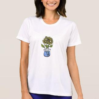 Sunflowers In Vase Ladies Top Tee Shirts